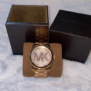 Michael Kors Rose Gold Runway Gold-tone Watch